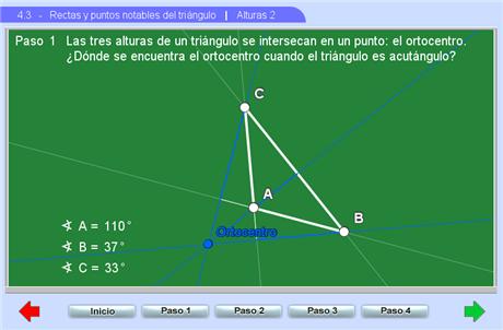 Documentacin Unidad 43 Rectas y puntos notables del tringulo
